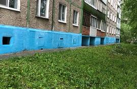 Частичная покраска дома по адресу ул. Гашкова, 27
