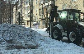 Механизированная уборка придомовых территорий от снега