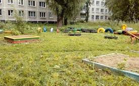 Покос травы на придомовой территории по адресу ул. Гашкова, 25