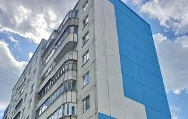Покраска фасада и ремонт швов дома по адресу ул. Свободы, 13