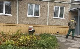 Плановая дезинфекция мест общего пользования дома по адресу ул. Сигаева, 2